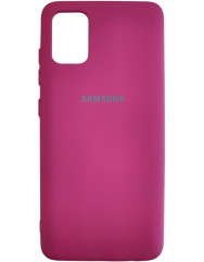Чохол Silicone Case Samsung Galaxy A51 (бордовий)