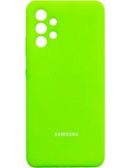 Чохол Silicone Case Samsung Galaxy A32 (зелений неон)