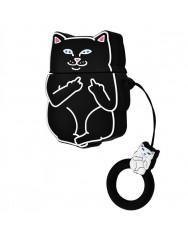Чохол для AirPods Cat Fakk з кільцем (чорний)