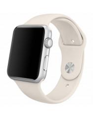 Ремінець силіконовий для Apple Watch 42/44mm (бежевий)