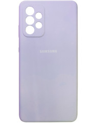 Чохол Silicone Case Samsung Galaxy A72 (бузковий)