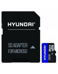 Карта пам'яті Hyundai micro SD 32gb (10cl) + adapter