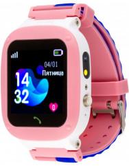 Дитячий розумний годинник AmiGo GO004 Splashproof Camera LED (Pink)