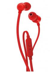 Вакуумні навушники-гарнітура JBL Tune 110 (Red)