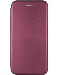 Книга Premium Samsung Galaxy A12 (бордовий)