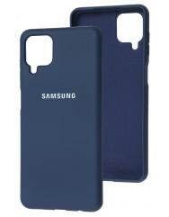Чохол Silicone Case Samsung A12 (темно-синій)