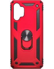 Чохол Serge Ring + підставка Samsung A32 (червоний)