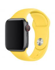 Ремінець силіконовий для Apple Watch 42/44mm (жовтий)