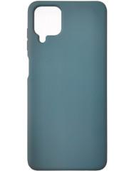 Чохол Silicone Case Samsung A12 (темно-зелений)