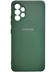 Чохол Silicone Case Samsung Galaxy A32 (темно-зелений)