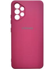 Чохол Silicone Case Samsung Galaxy A32 (бордовий)