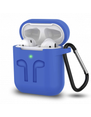 Чохол для AirPods Colors з карабіном (синій)