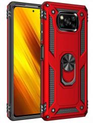 Чохол Serge Ring + підставка Xiaomi X3 NFC/ Poco X3 Pro (червоний)