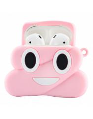 Чохол для AirPods Poop з кільцем (рожевий)