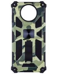 Чохол Shockproof Camouflage для Xiaomi Poco X3 / Poco X3 Pro (салатовий)