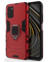 Чехол Armor + подставка Poco M3/Redmi 9T (красный)