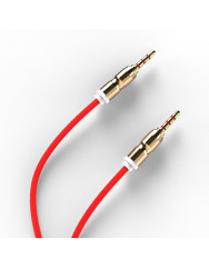 AUX кабель 3.5mm (метал) 1м (червоний)