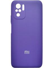 Чoхол Silicone Case Xiaomi Redmi Note 10/ Note 10S (фіолетовий)
