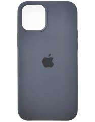 Чохол Silicone Case Iphone 12 /12 Pro (темно-сірий)