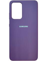 Чохол Silicone Case Samsung Galaxy A52 (пурпур)