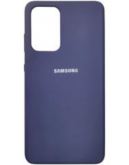 Чохол Silicone Case Samsung Galaxy A52 (темно-синій)