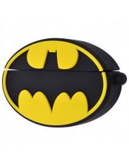 Чохол для AirPods Marvel & DC series з кільцем (Бетмен лого / Чорно-жовтий)