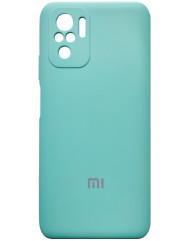 Чoхол Silicone Case Xiaomi Redmi Note 10/ Note 10S (бірюзовий)