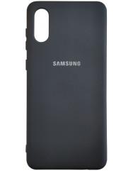 Чохол Silicone Case Samsung A02 (чорний)