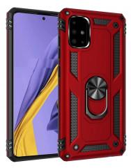 Чохол Serge Ring + підставка Samsung A51 (червоний)