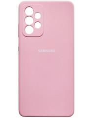 Чохол Silicone Case Samsung Galaxy A52 (рожевий)