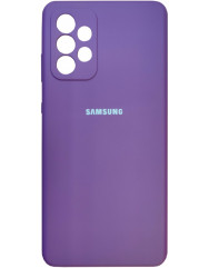 Чохол Silicone Case Samsung Galaxy A72 (пурпур)