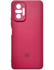 Чохол Silicone Case Xiaomi Redmi Note 10 Pro (бордовий)