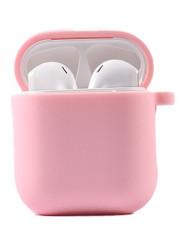 Чохол для AirPods 1/2 з мікрофіброю (ніжно рожевий)