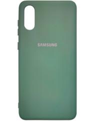 Чохол Silicone Case Samsung A02 (темно-зелений)