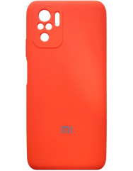 Чoхол Silicone Case Xiaomi Redmi Note 10/ Note 10S (оранжевий неон)