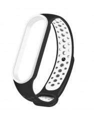 Ремінець для Xiaomi Band 5/6 Mijobs Sport (black-white)