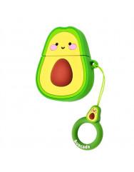 Чохол для AirPods Smile Fruits series з кільцем (Авокадо)