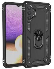 Чохол Serge Ring + підставка Samsung A72 (чорний)