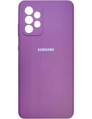 Чохол Silicone Case Samsung Galaxy A72 (фіолетовий)