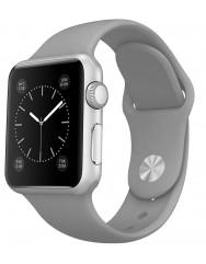 Ремінець силіконовий для Apple Watch 42/44mm (сірий)