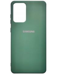 Чохол Silicone Case Samsung Galaxy A72 (темно-зелений)