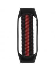 Ремінець для Xiaomi Band 5 Metal Magnit (Black-Red)