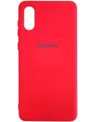 Чохол Silicone Case Samsung A02 (червоний)