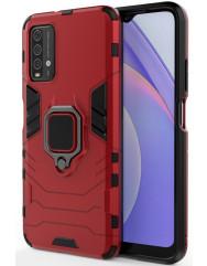 Чохол Armor + підставка Xiaomi Redmi Note 9 4G/ Redmi 9T (червоний)