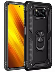 Чохол Serge Ring + підставка Xiaomi X3 NFC/ Poco X3 Pro (чорний)