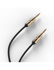 AUX кабель 3.5mm (метал) 1м (чорний)