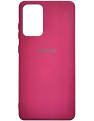 Чохол Silicone Case Samsung Galaxy A72 (бордовий)
