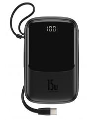 PowerBank Baseus Q Pow Display 10000 mAh (Black) PPQD-A01 Type C Cable