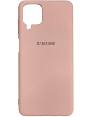 Чохол Silicone Case Samsung A12 (бежевий)