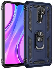 Чохол Serge Ring + підставка Xiaomi Redmi 9 (темно-синій)